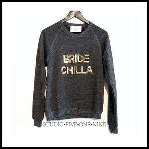Bow & Drape • Bride Chilla Sequined Crew